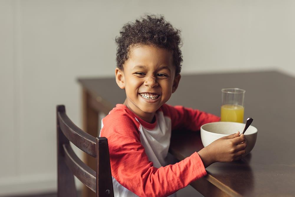 Preventing stunting in children eating healthy porridge fortified porridge foods